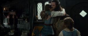 Bardo abraza a sus hijas Sigrid y Tilda