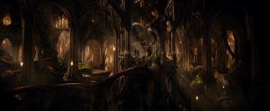 Uno de los salones del palacio de Thranduil