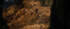 Bilbo corre por el tesoro de Smaug