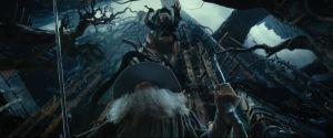 Thráin cae sobre Gandalf