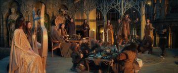 Bofur cantando en Rivendel