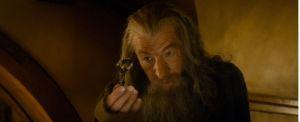 Gandalf con la llave de Thráin