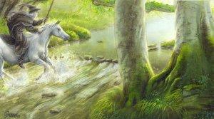 Gandalf cruza el Vado de Sarn, según Simon Schmidt