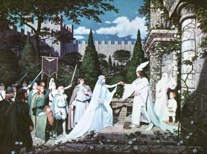Boda de Aragorn y Arwen, según los hermanos Hildebrandt