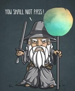 Dan el nombre de Gandalf a unas colinas en Titán (wirdou.com / NASA)