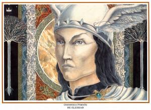 El Rey Elessar, según el artista italiano Domenico Franchi