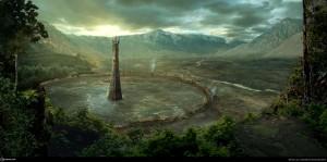 Isengard según el artista taiwanés Ken Liao