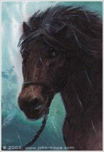 Bill el poni, según John Howe