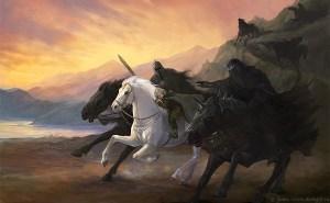 Frodo huye de los Nazgûl hacia el Vado de Bruinen, según Julia Alekseeva