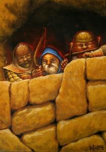 Thorin en el parapeto de Erebor, según Barbara Sliwinska