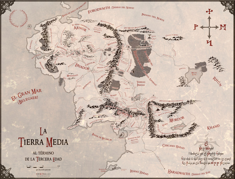 Fantásticos mapas de la Tierra Media en alta resolución y en español ...