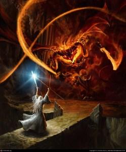 Gandalf y el Balrog, según Gonzalo Kenny