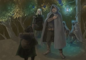 Haldir da la bienvenida a Frodo, según Nequarilj