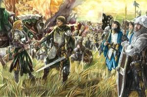 Éomer y Aragorn se encuentran en los Campos del Pelennor, según Abe Papakhian