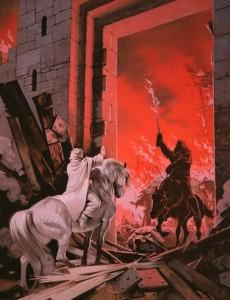 Gandalf y el Rey Brujo, según Angus McBride