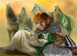 Merry se despide de Théoden, según Francesco Amadio