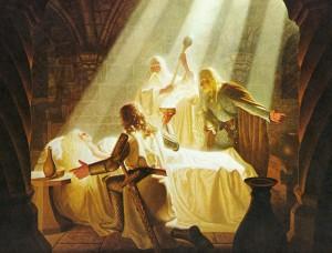 La curación de Éowyn, según los hermanos Hildebrandt