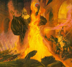 La pira de Denethor, según Robert Chronister