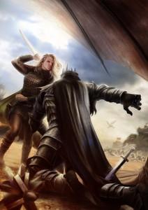Éowyn y el Rey Brujo, según Tiziano Baracchi
