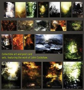 Wrath, Ruin and a Red Nightfall. The Art of John Cockshaw - sets de postales y láminas