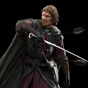Escultura de Boromir en Amon Hen de Weta Workshop