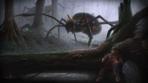 Bilbo y las arañas, según Marc Daniel Goecke