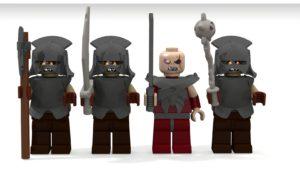 Propuesta de set del asedio y batalla de Minas Tirith en Lego Ideas, de JediPippin