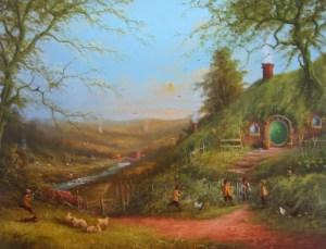 Frodo en Bolsón Cerrado al día siguiente de la fiesta de Bilbo, según Joe Gilronan
