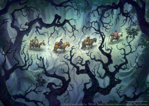 Los hobbits en el Bosque Viejo, según Joel Hustak