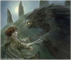 Frodo y el Tumulario, según John Howe