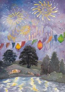 Los fuegos artificiales de Gandalf en el cumpleaños de Bilbo, según Norloth