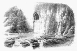Parapeto de la Puerta Principal de la Montaña Solitaria, según Alan Lee