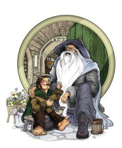 Bilbo y Gandalf, según Andy Smith