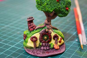 Miniatura de un Smial, creado para el Festival Elen Galad