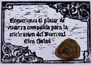 Invitación para el Festival Elen Galad
