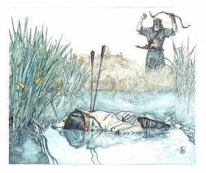 La muerte de Isildur, según Stephen Graham Walsh