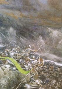 La Batalla de los Cinco Ejércitos, según el artista inglés Alan Lee