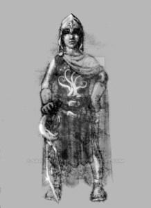 Pippin con los atavíos de Gondor, según Jocelyn Combe