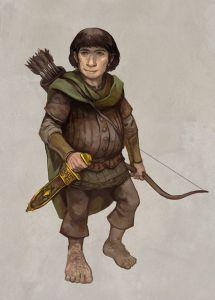 Arquero hobbit, según Jon Hodgson