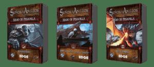 Khazad-dûm, Sobre la colina y bajo la colina, y En el umbral, tres dos nuevos mazos de pesadilla para El Señor de los Anillos: El juego de cartas (LCG)