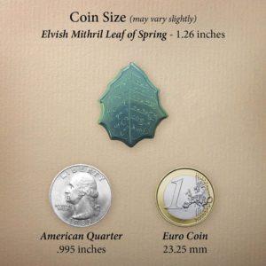 Comparativa del tamaño de las monedas de Eregion