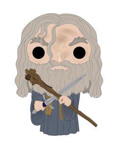 Diseño de la figura de Gandalf el Gris de Funko