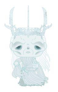 Diseño de la figura del Nazgûl de Funko