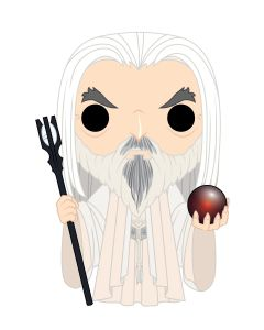 Diseño de la figura de Saruman de Funko