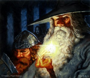Gandalf y Gimli en Moria, según Jake Murray