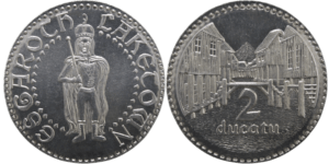 Moneda de la Ciudad del Lago de Shire Post Mint