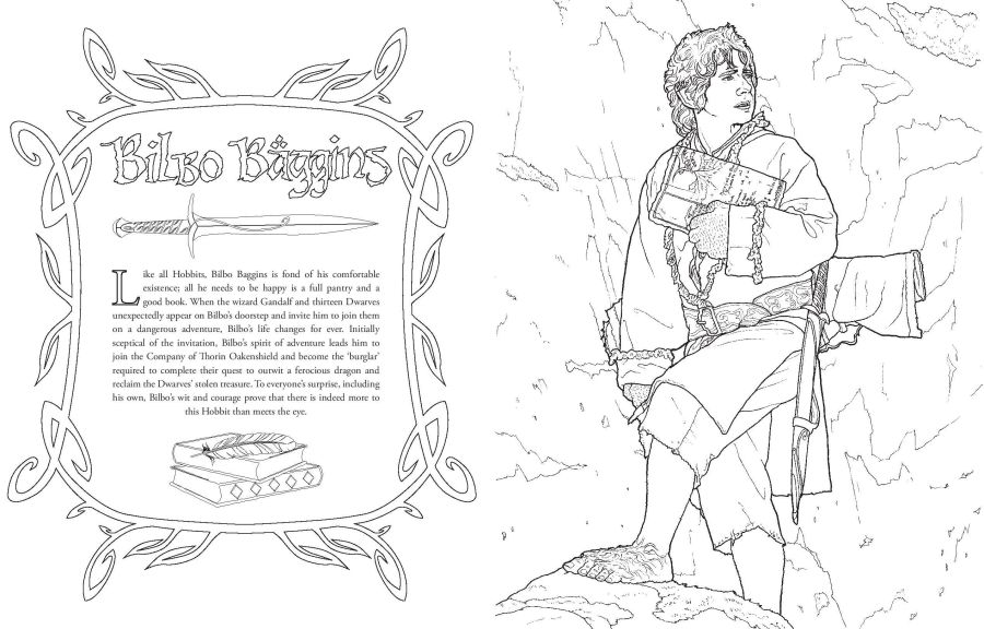 The Hobbit Movie Trilogy Colouring Book | El Anillo Único