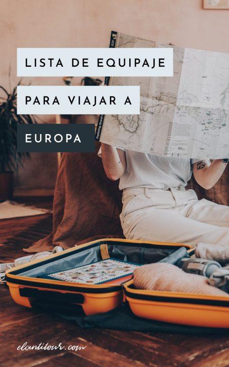 que llevar en un viaje a europa