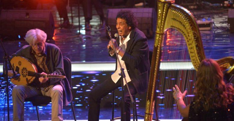 نتيجة بحث الصور عن تفاصيل افتتاح الكينج محمد منير لمهرجان الموسيقى العربية