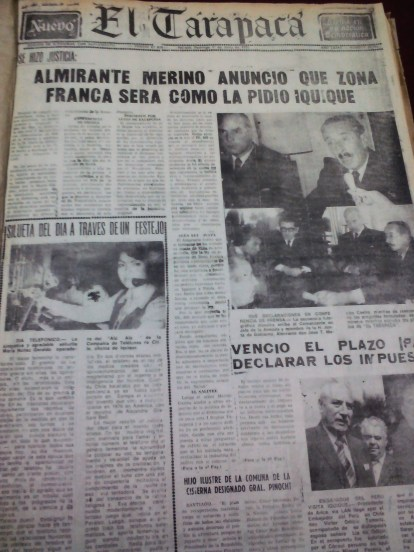 Junio de 1975 es un mes crucial para Iquique: A principios de mes se anuncia la creación de la Zona Franca